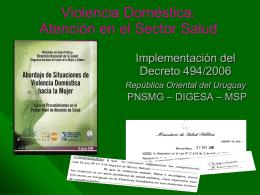 Atención a Violencia Doméstica