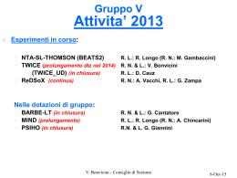 Gruppo V Preventivi 2005