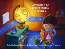 actividad de comprensión lectora