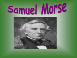 Samuel Finley Breese Morse, nació el 27 de