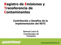 Registro de Emisiones y Transferencias de Contaminates
