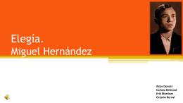 Elegía. Miguel Hernández