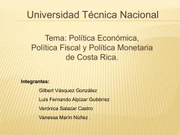 POLITICA ECONOMICA. 2012 (1) - UTN-CONTA-IV