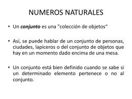 NUMEROS NATURALES - Conociendo las matemáticas