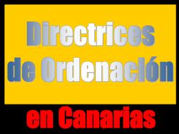 Introducción Directrices de Ordenación