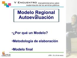 Modelo Regional de Autoevaluación