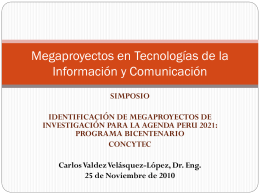 Megaproyectos en TIC Concytec Nov2010