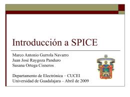 Introducción a SPICE - Universidad de Guadalajara