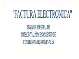 presentacion factura electronica