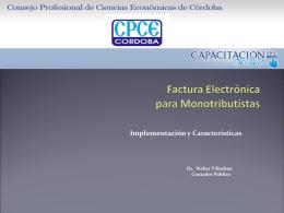 Factura Electrónica para Montributistas Resolución General 3067