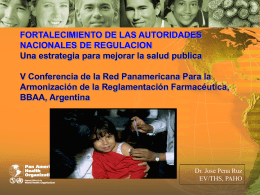 Slide 1 - PAHO/WHO