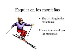 Esquiar en los montañas