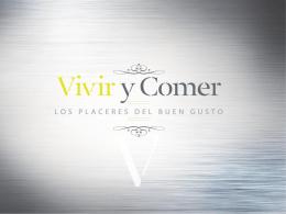 Presentación VIVIR&COMER