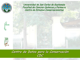 Presentación1 CDC - IARNA Instituto de Agricultura, Recursos