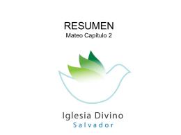 Resumen - Iglesia Cristiana Divino Salvador