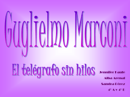 presentacion trabajo GUGLIELMO MARCONI