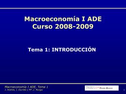 La macroeconomía - Departamento de Análisis Económico.