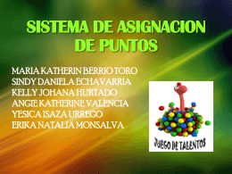 SISTEMA DE ASIGNACION DE PUNTOS.