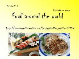 activity #2 Food around the world