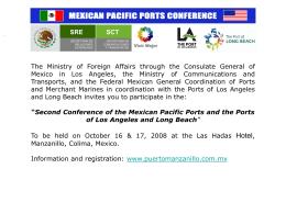 Diapositiva 1 - Puerto de Manzanillo