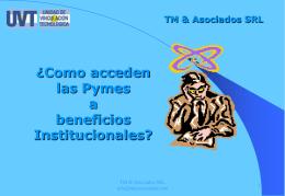"""""""Como acceden las Pymes a beneficios Institucionales"""""""