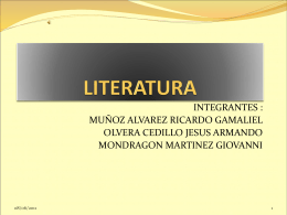 Diapositiva 1 - Literatura