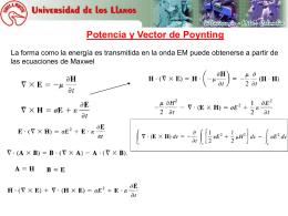 Potencia y Vector de Poynting