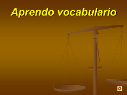 Aprendo vocabulario - Educastur Hospedaje Web