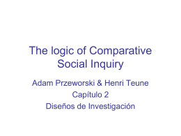 The logic of Comparative Social Inquiry
