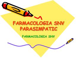 Farmacologia SNV parasimpatic