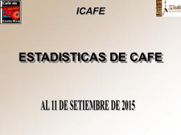 icafe comercialización por zonas cosecha 2014/2015