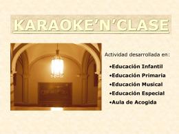 KARAOKE`N`CLASE