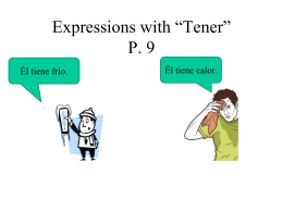 "Expressions with ""Tener"""