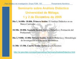 Seminario Análisis Didáctico