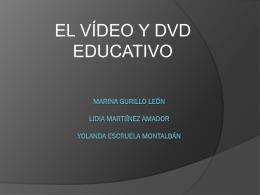 """PPT """"El vídeo y el DVD educativo"""""""
