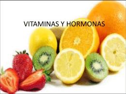 VITAMINAS Y HORMONAS - ana maria gutierrez tamayo