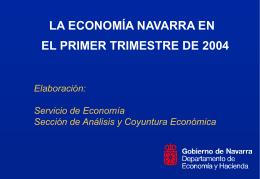 La economía navarra en el tercer trimestre de 2000