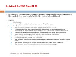 Actividad 8: J2ME OpenGL ES