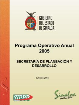 Programa Operativo Anual 2005 - Portal de Acceso a la Información