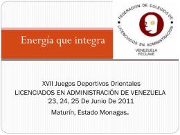 Energía que integra XVII Juegos Deportivos Orientales