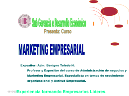 Marketing Empresarial.