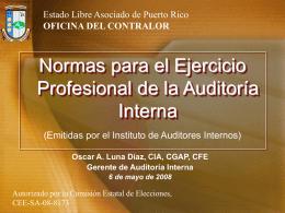 Normas para el ejercicio profesional de la Auditoría Interna