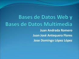 bases de datos multimedia - isi-mabd