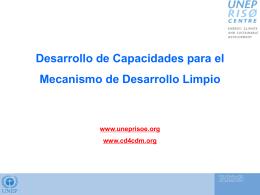 Desarrollo de Capacidades para el MDL