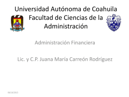 Administración financiera en la organización. 1.2