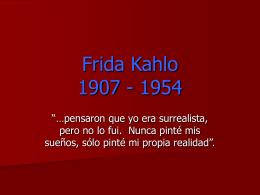 Frida Kahlo 1907