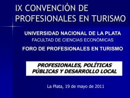 IX CONVENCIÓN DE PROFESIONALES EN