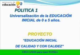 PRESENTACION EDUCACION INICIAL - Melissa