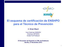 Sergio Rodrigues. Estándar Internacional sobre Competencias del