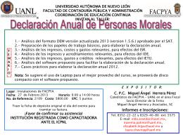 Declaración Anual de Personas Morales
